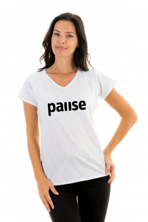 T-shirt v-neck Pause