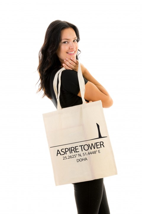 Tote bag Aspire Tower - Doha, Qatar