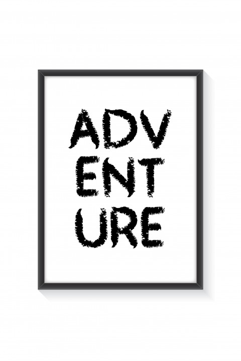 Poster with frame ADVENTURE