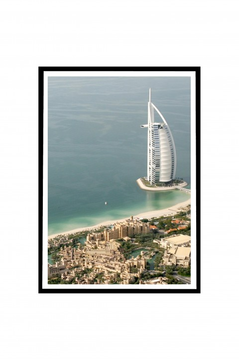 Poster with frame Aerial View of Burj Al Arab and Souk Madina, Dubai - UAE By Emmanuel Catteau
