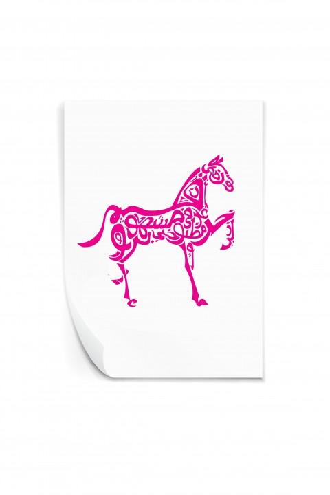 Reusable sticker Arabic Horse Design
