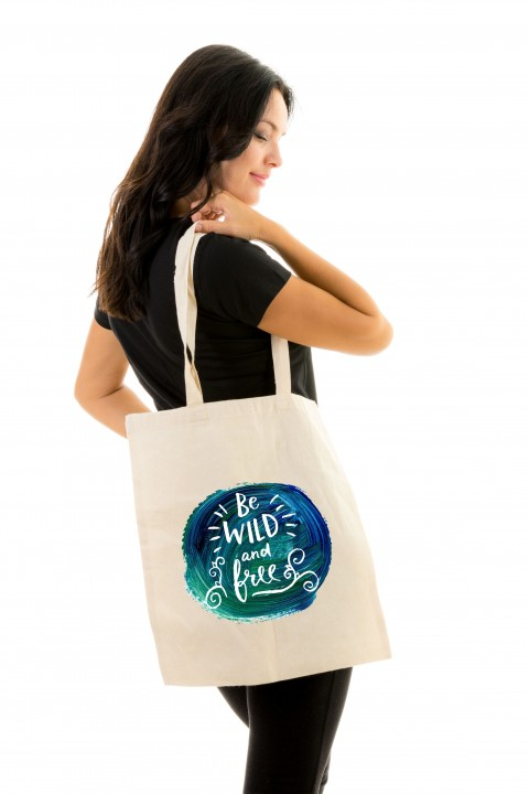 Tote bag Be Wild And Free