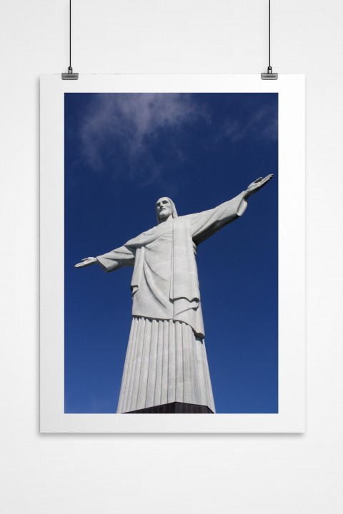 Poster Christ The Redeemer - Brazil By Emmanuel Catteau