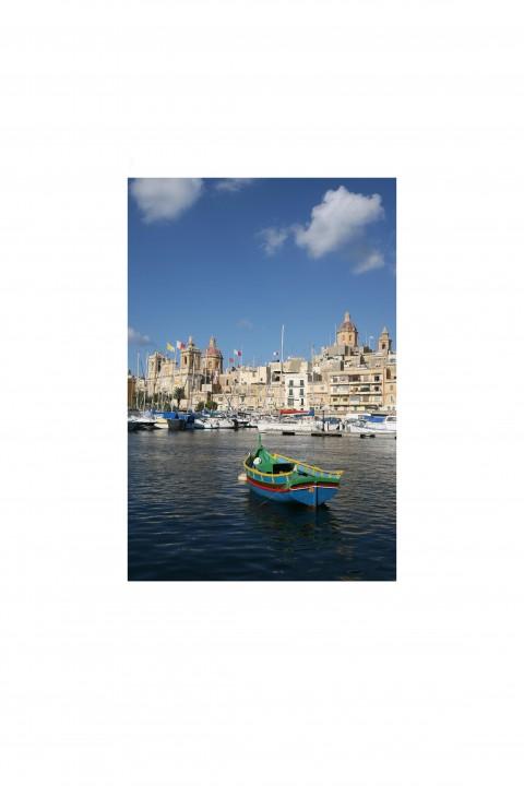 Poster Harbour of Valetta - Malta - By Emmanuel Catteau