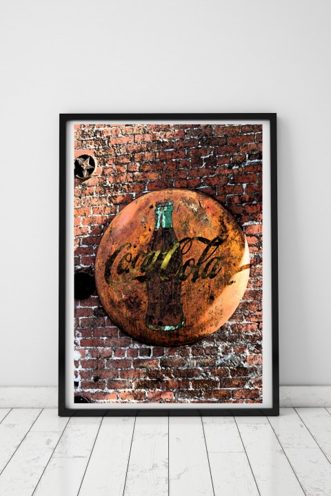Poster with frame Coca-Cola By Emmanuel Catteau
