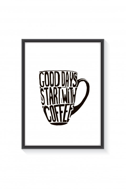 Poster with frame Coffee