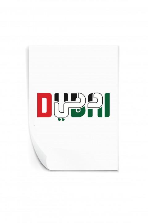 Reusable sticker Dubaï UAE