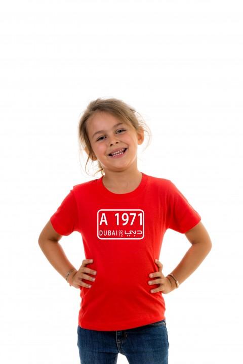 T-shirt Kid Dubaï Plate 1971
