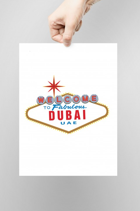 Poster Welcome to Fabulous Dubai