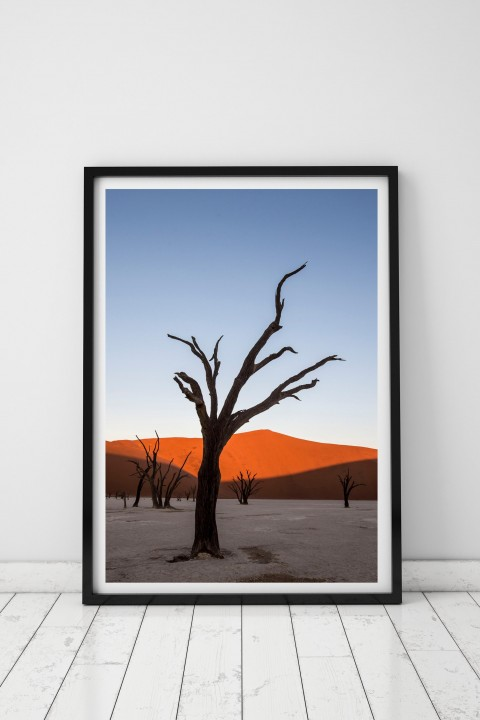 Poster with frame Sossuvlei Dunes - Namibia By Emmanuel Catteau