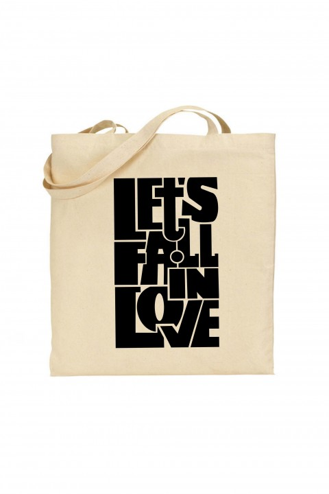 Tote bag Let's fall in love