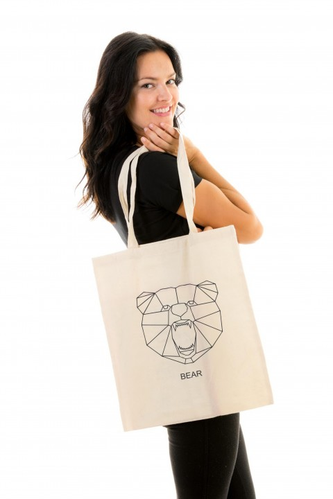 Tote bag Geometric Bear