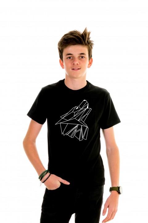T-shirt kid Geometric Wolf