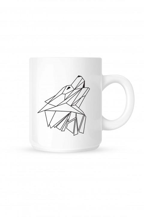 Mug Geometric Wolf