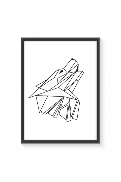 Poster with frame Geometric Wolf
