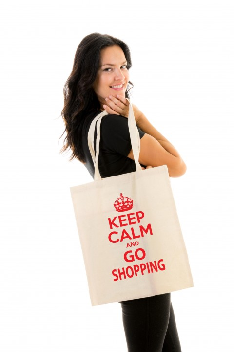 Tote bag Keep calm and go shopping
