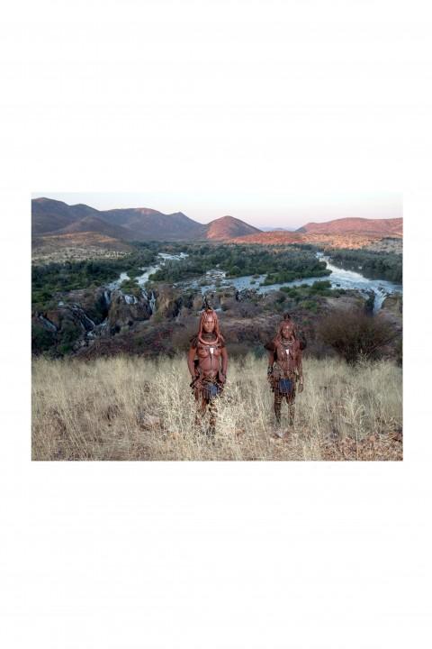 Poster Himbas at Epupa Falls - Namibia By Emmanuel Catteau