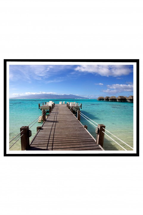 Poster with frame Jetty in Moorea - French Polynesia By Emmanuel Catteau