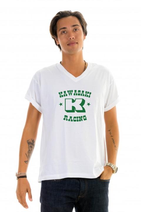 T-shirt v-neck Kawasaki Racing