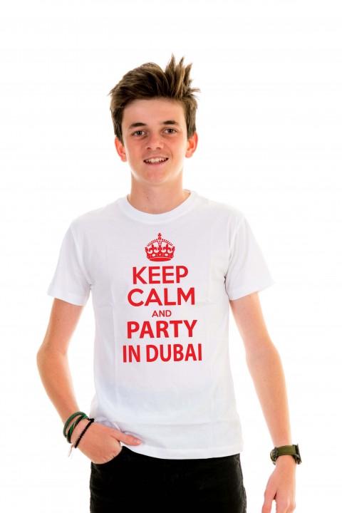 T-shirt kid Keep Calm and Party in Dubai