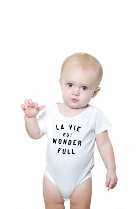 Baby romper La Vie Est Wonderfull