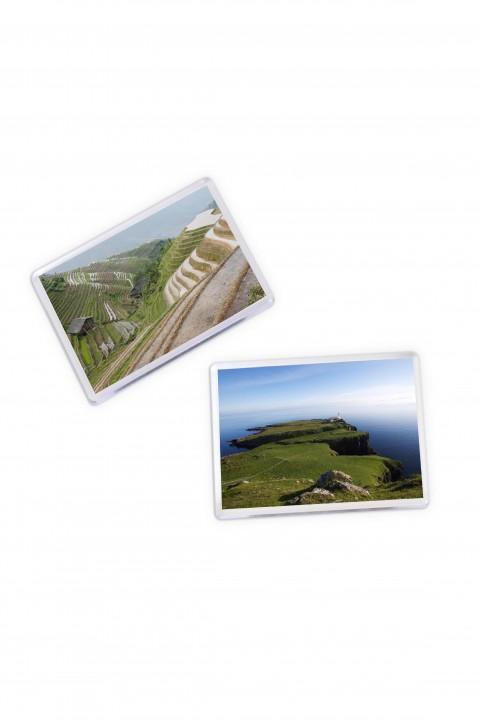 Set of 8 square magnets Landscape