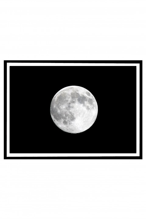 Poster with frame Full Moon By Emmanuel Catteau