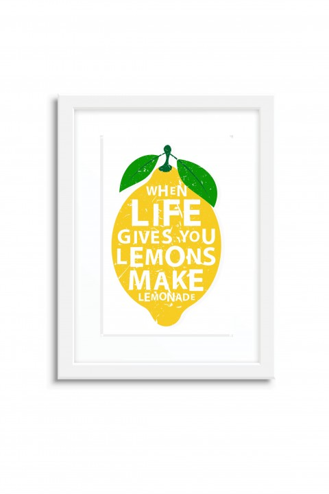 Poster with frame Lemon Lemonade