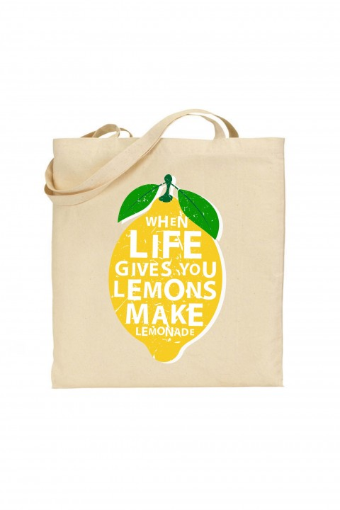 Tote bag Lemon Lemonade