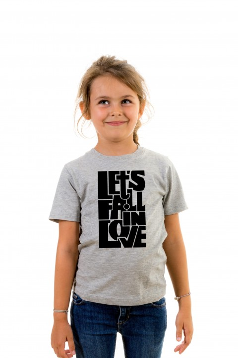 T-shirt kid Let's fall in love