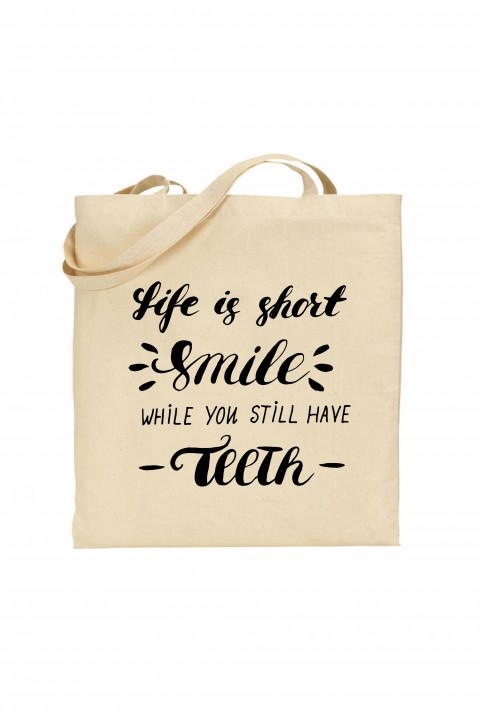 Tote bag Life Is Short Smile