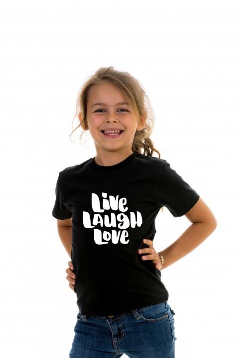 T-shirt kid Live Laugh Love