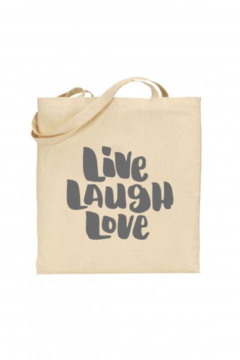 Tote bag Live Laugh Love