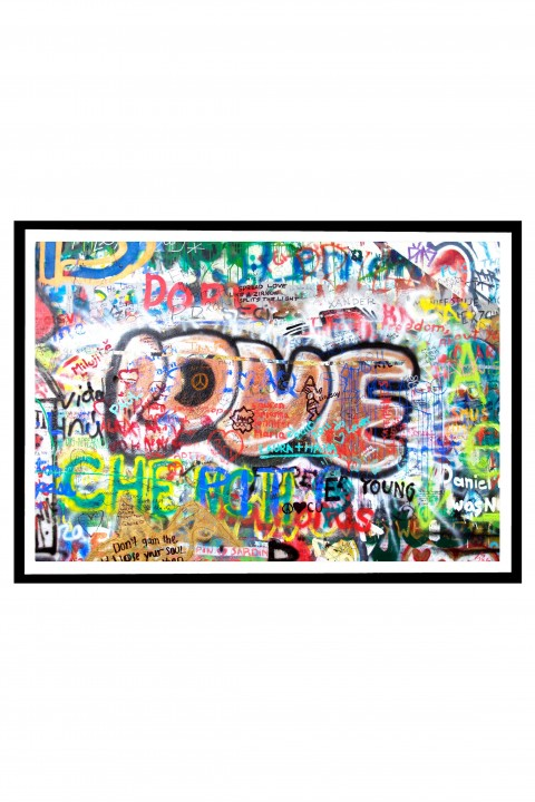 Poster with frame Love Tag By Emmanuel Catteau