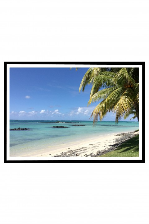 Poster with frame Mauritius By Emmanuel Catteau