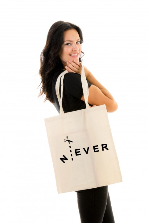 Tote bag Never