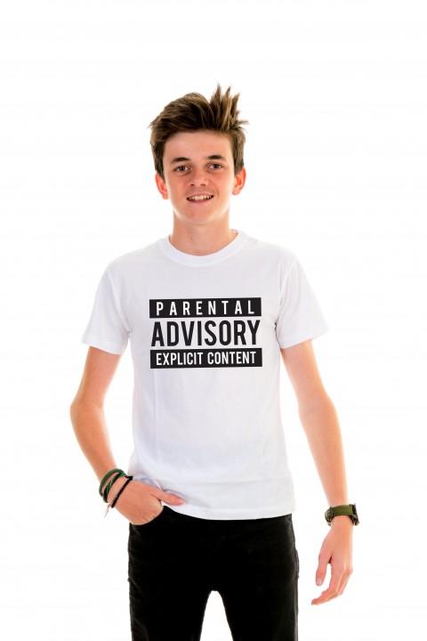 T-shirt Kid Parental Advisory Explicit Content