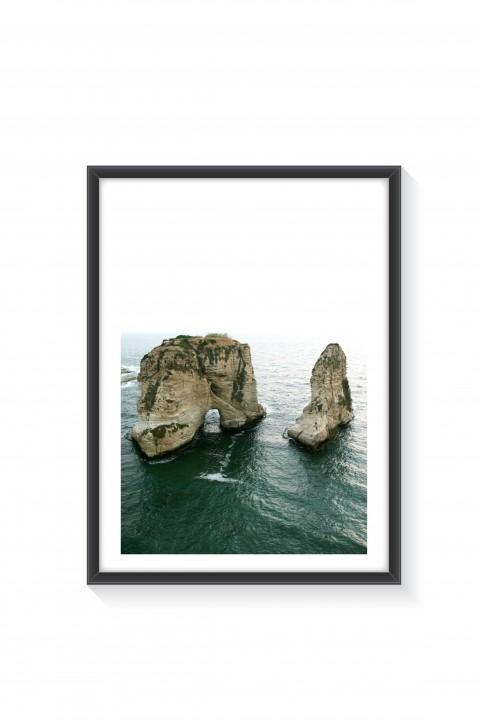 Poster with frame Pigeon Rock - Lebanon By Emmanuel Catteau