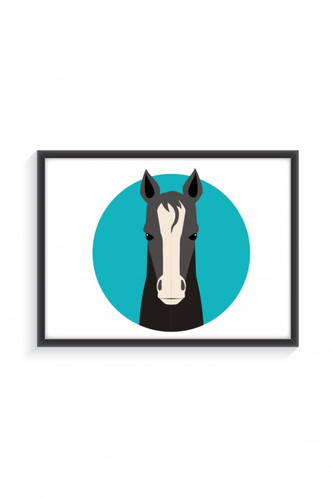 Poster with frame Horse