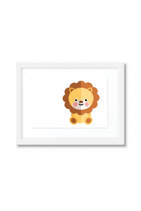 Poster with frame Lion