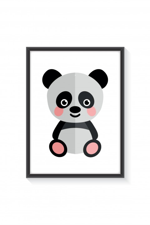 Poster with frame Panda