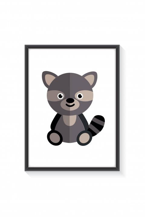 Poster with frame Raccoon