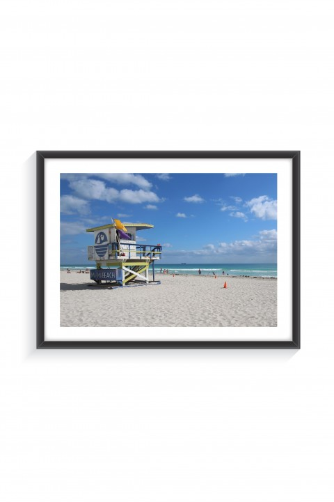 Poster with frame South Beach - Miami By Emmanuel Catteau