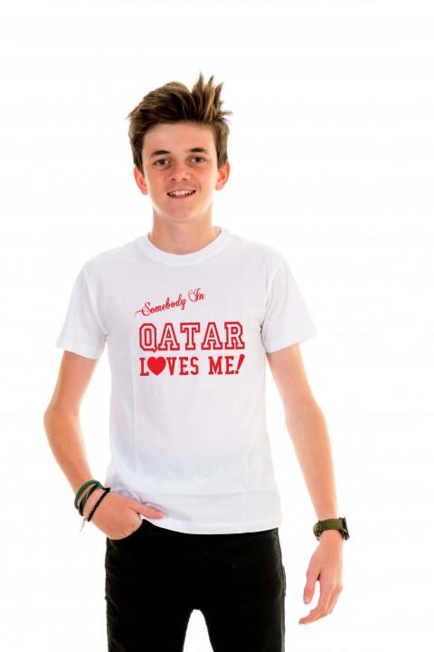 T-shirt kid Qatar Loves Me!