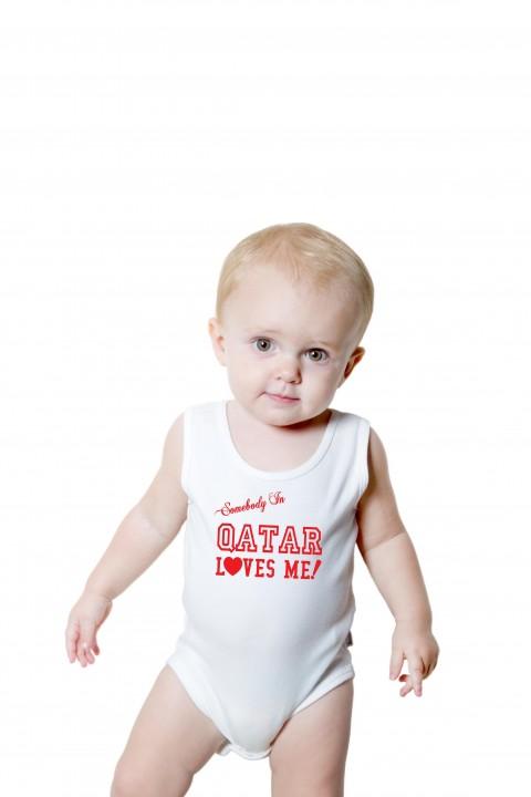 Baby romper Qatar Loves Me!