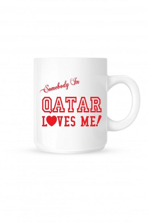 Mug Qatar Loves Me!