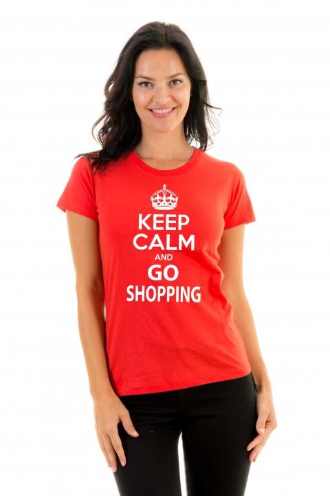 T-shirt Keep calm and go shopping