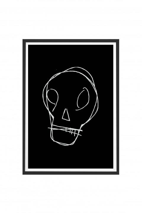 Poster with frame Skull