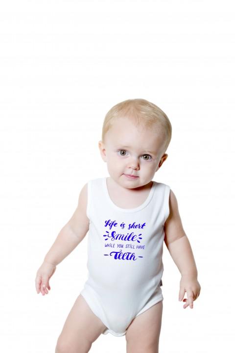 Baby romper Life Is Short Smile