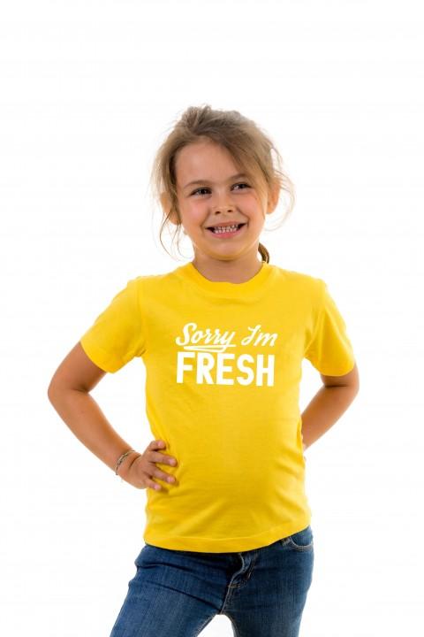 T-shirt kid Sorry I'm Fresh